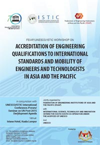 FEIAP/UNESCO/ISTIC Workshop on  Engineering Education Guidelines for Accreditation